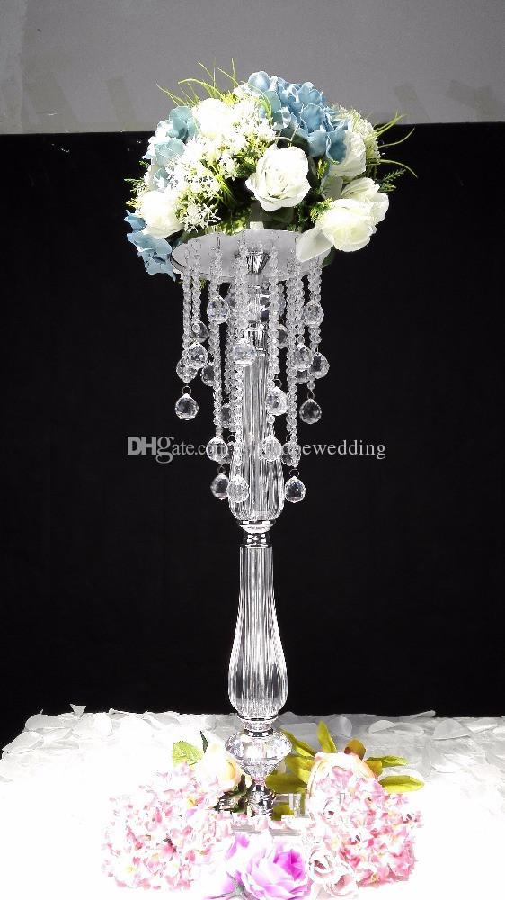 Newest product tall acrylic flower stands wedding floor