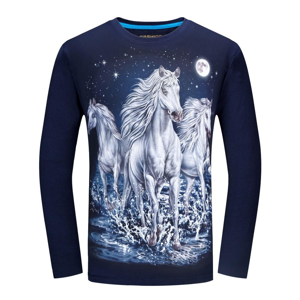 Wholesale long sleeve t shirt men brand 3d animal print t for Wildlife t shirts wholesale