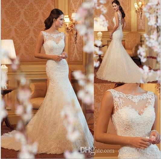 The New 2017 Lace Fishtail Wedding Dress Bride Big Sizes Customized Small Trailing Cultivate Morality H13 Size
