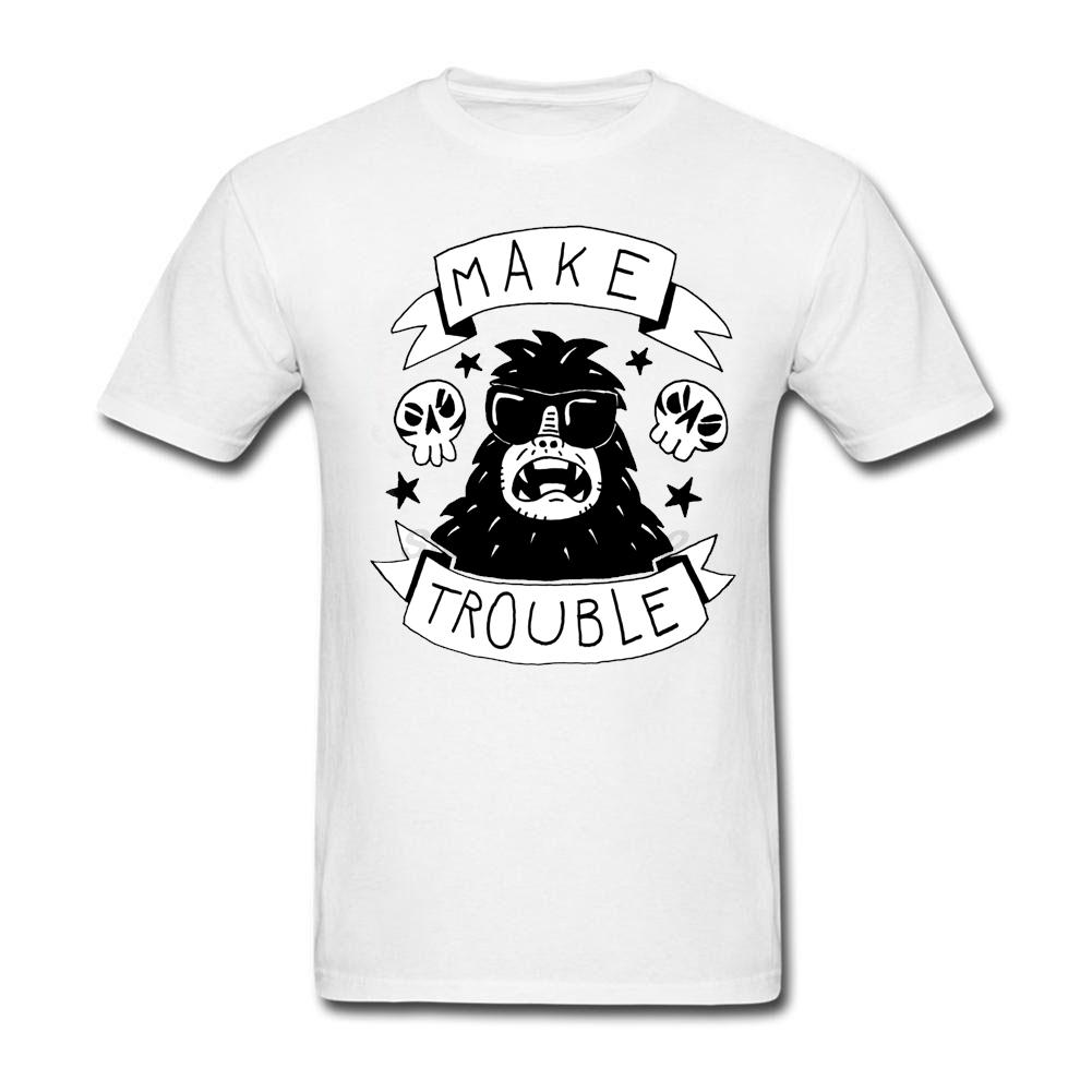 Mens make trouble t shirt fashion best selling anarchy for Create t shirts to sell
