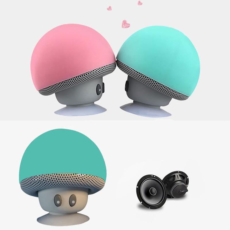 mini light and smallest portable bluetooth speaker for kids coloful waterproof wireless mushroom. Black Bedroom Furniture Sets. Home Design Ideas