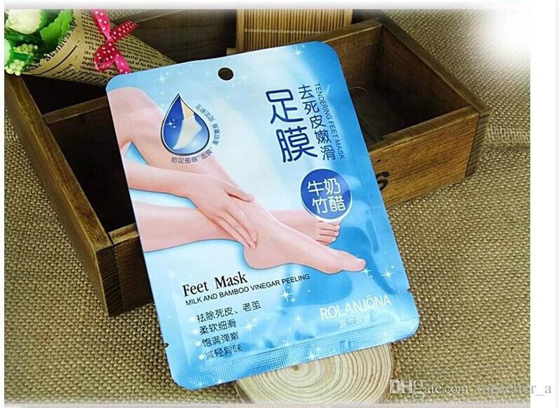milk and bamboo vinegar peeling foot mask instructions