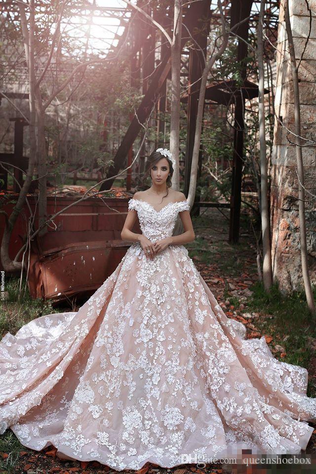Discount 2017 elie saab new style blush church train for Elie saab blush wedding dress