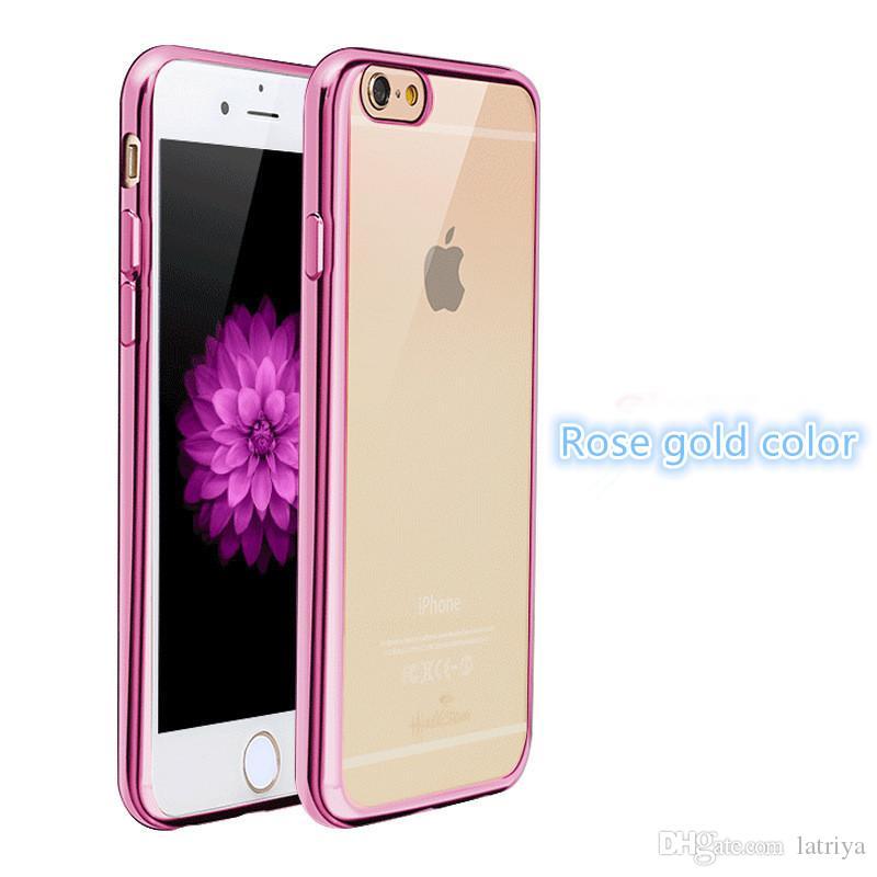 rose gold color design tpu electroplating case phone cover. Black Bedroom Furniture Sets. Home Design Ideas