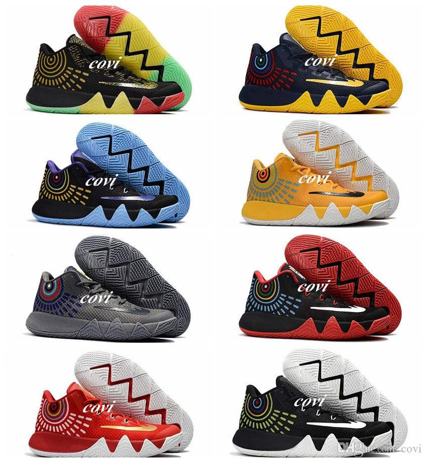 2017 New Kyrie Irving 4 Basketball Shoes for Cheap Sale Sneakers Sports  Mens Shoe Wolf Grey Team Red Outdoor Trainers Basket Ball Boots Kyrie Irving  4 Shoes ...