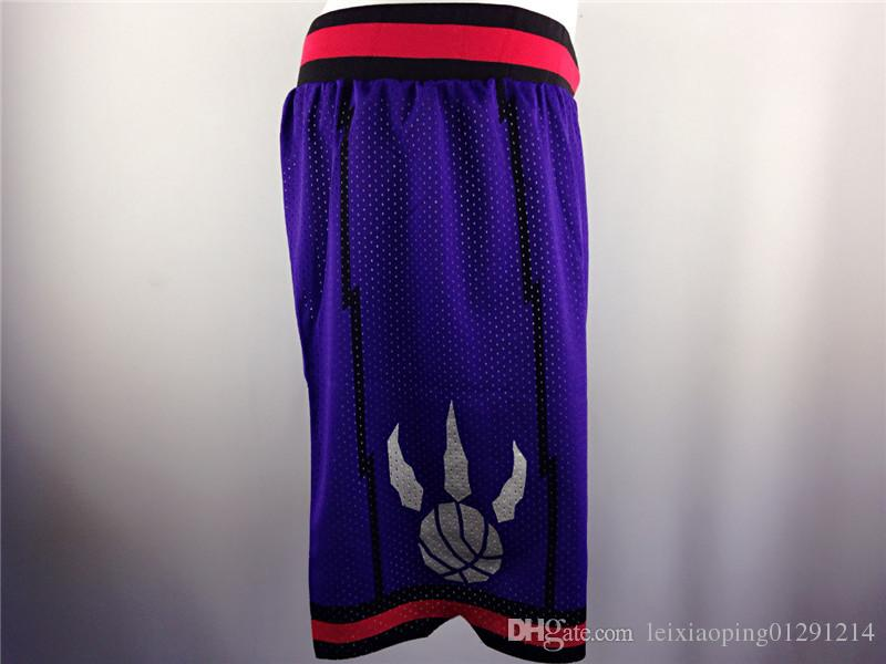 2017 Shorts de basket-ball Solid Sport Basket-ball Shorts Homme Purple White Gym
