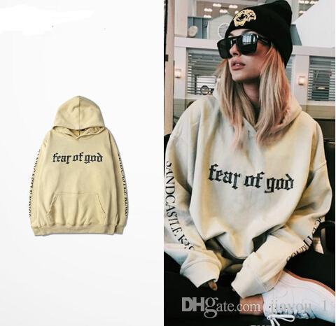 Peur de Dieu Hoodie Beige Purpose Tour Sweatshirt Gorilla Wear Hiphop Sweatshirt