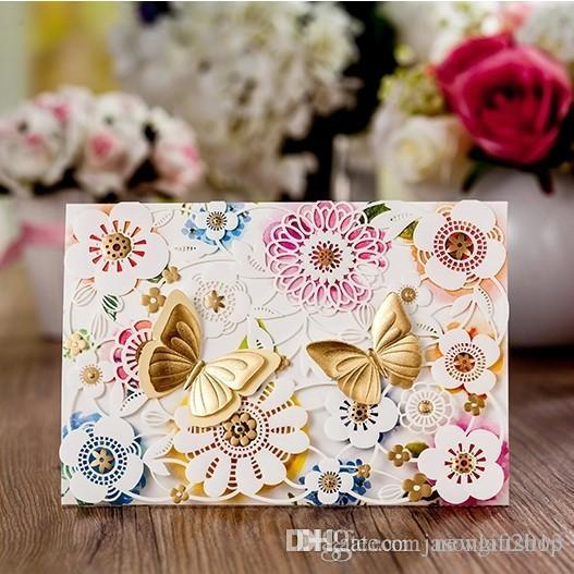 Elegant Lace Wedding Invitations Double Butterfly Party Invitation – Butterfly Party Invitation