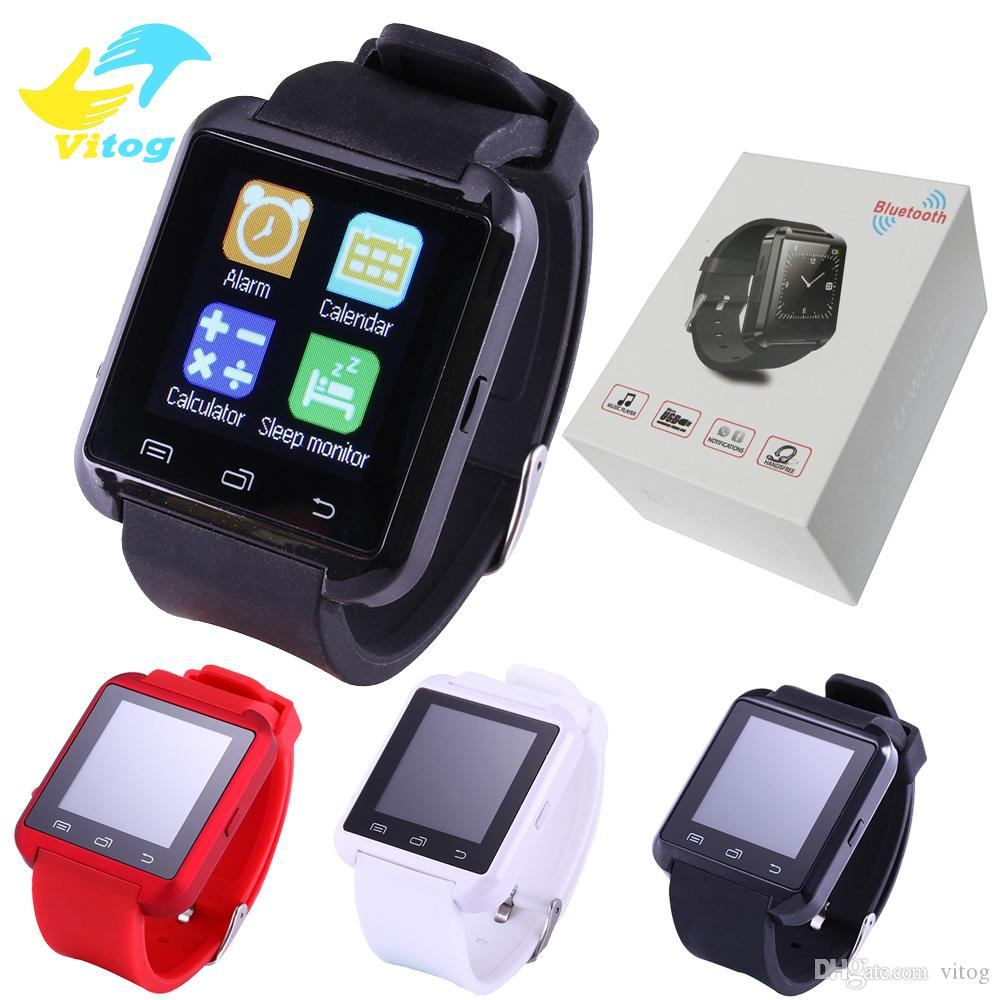 2016 Bluetooth Smartwatch U8 U Montre Smart Montre Montres pour iPhone 4 4S 5 5S