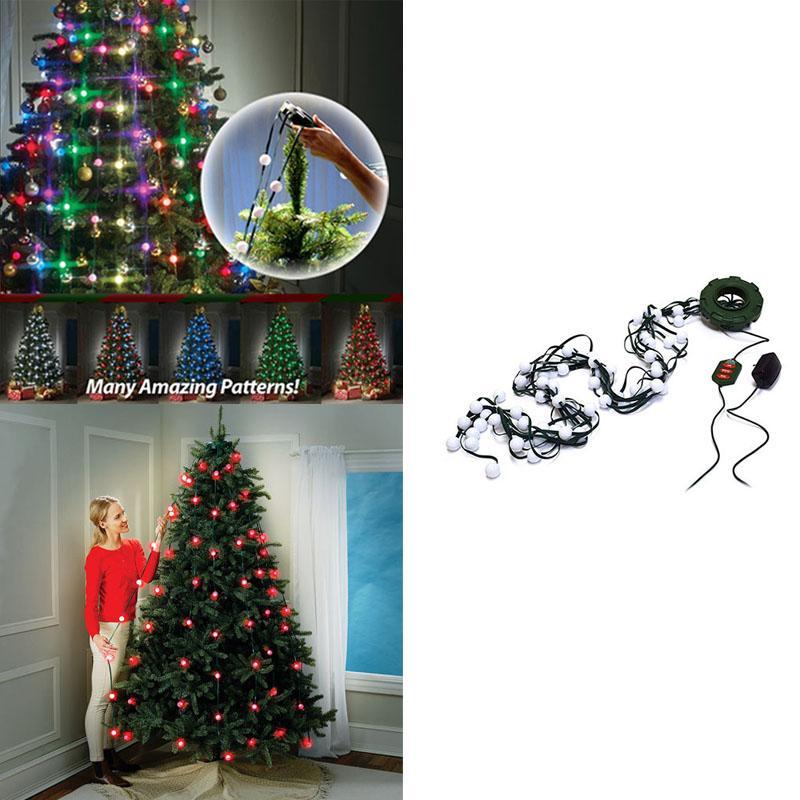 new 64 bulbs christmas tree light show maker of star shower handy light string for christmas tree with retail box christmas tree christmas lights led - Christmas Tree Light Bulbs