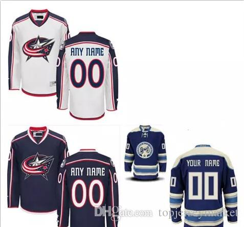 Columbus Blue Jackets Custom Stitched Mens Womens Youth Home Royal ...