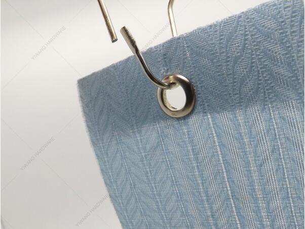 2017 polished satin nickel shower curtain clips hooks roller