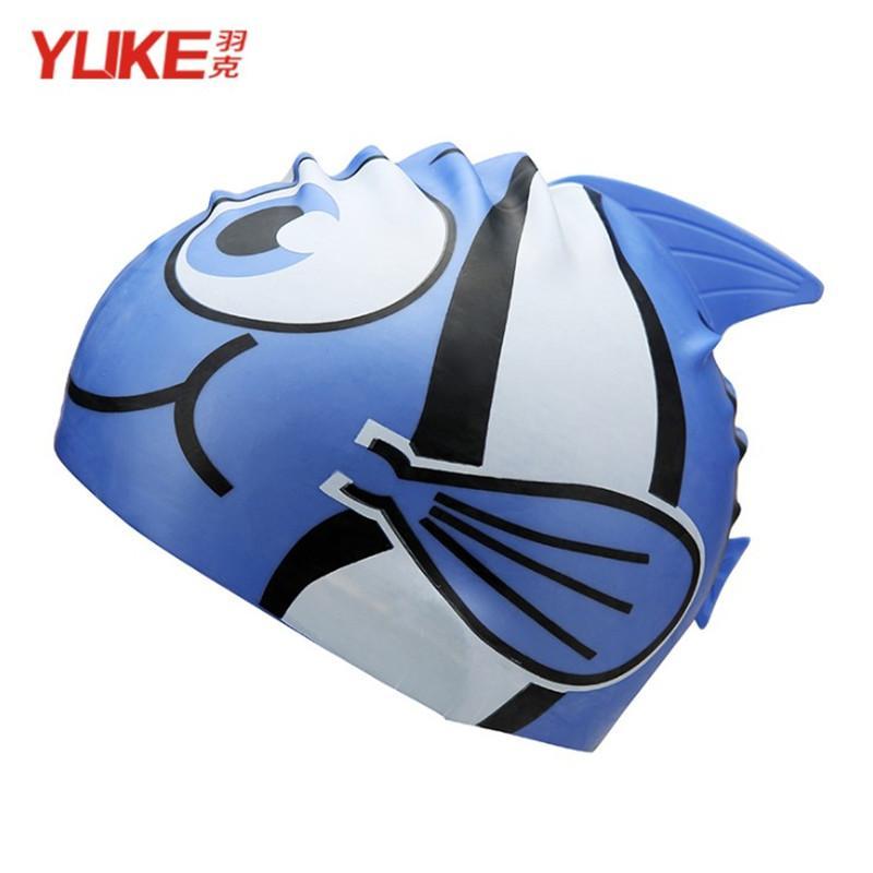 2018 Wholesale Yuke Kid Swim Cap Cute Fish Swimming Cap ...