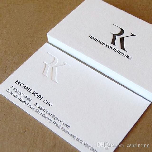 Letterpress 600gsm Business Cards Custom Silver Golden Foil Thick ...