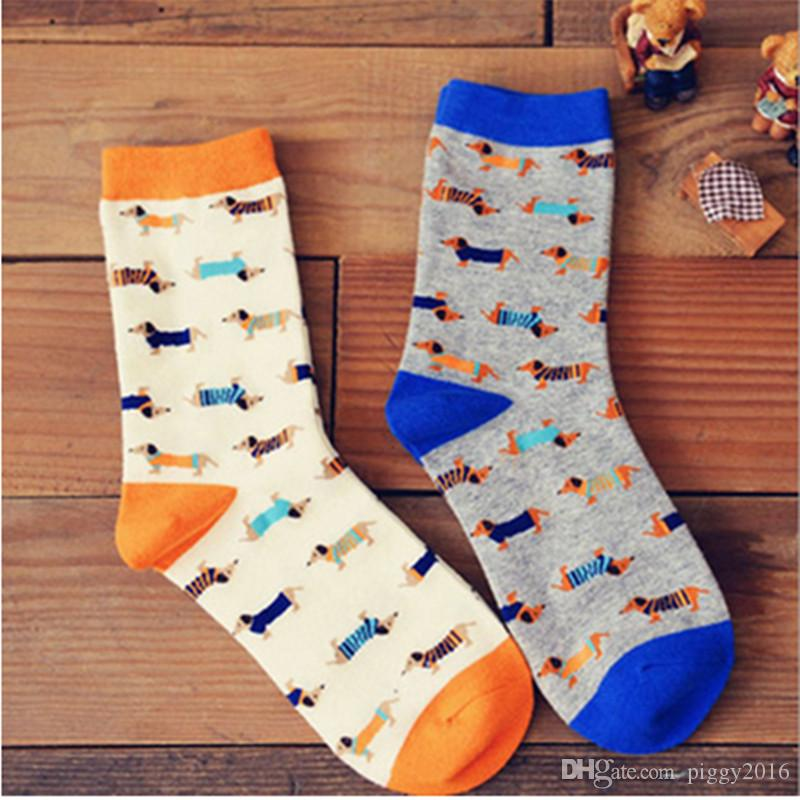 See larger image - 2016 Newly Spring And Winter Cotton Wiener Dog Pattern Socks