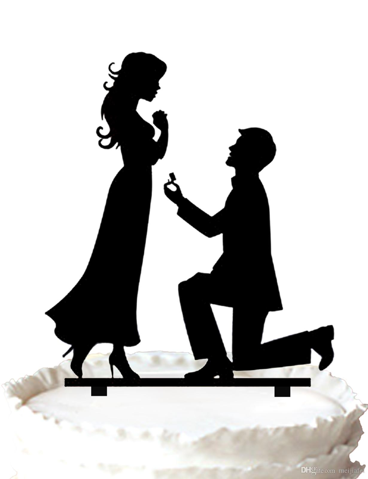 Wedding Rings Clipart Silhouette