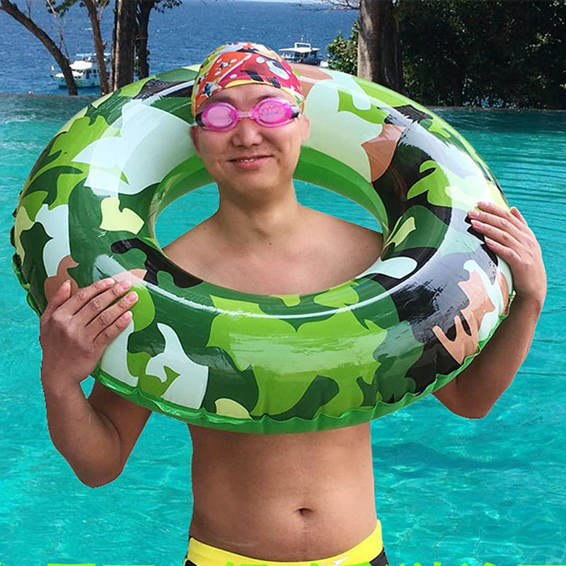 2017 Camouflage Swimming Ring Inflatable Floats Pool Swimming Float For Adult Children Floats