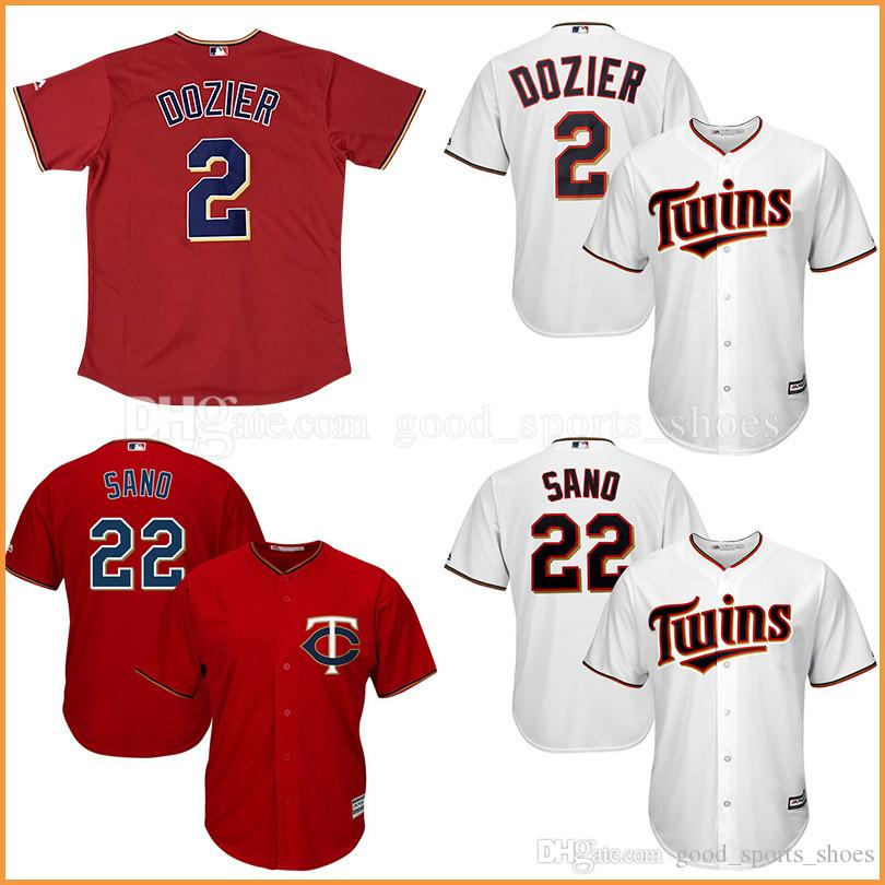 mens minnesota twins 2 brian dozier 100 stitched 22 miguel sano jerseys majestic red white