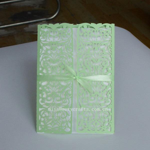 wholesale wholesale and retail laser cut mint green wedding, Wedding invitations