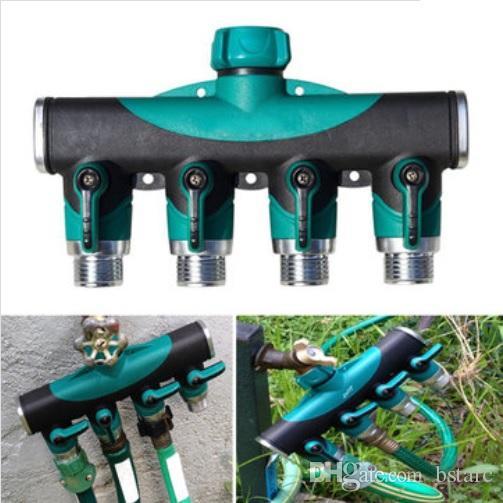 34 Inch Garden Hose 4 Way Splitter Water Pipe Faucet Shut off