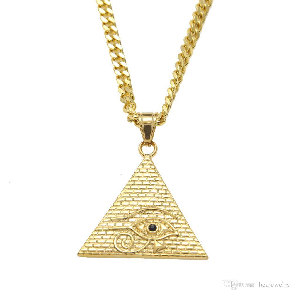 Wholesale New Arrival Gold Illuminati Eye Of Horus
