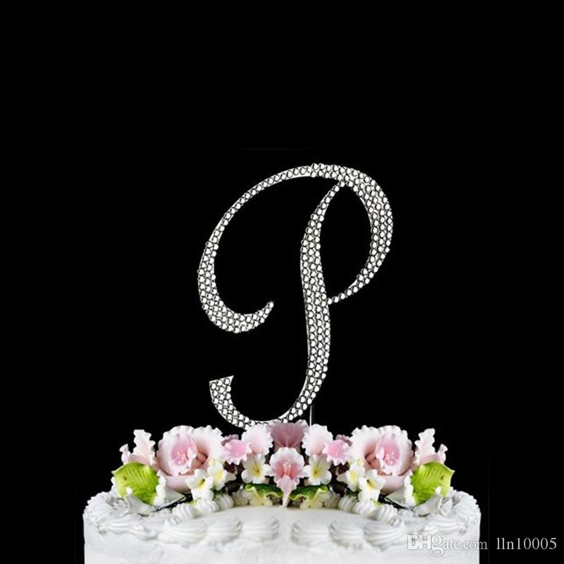 Cake Toppers Letter P : 2017 / Alphabet P Cake Topper Rhinestone Crystal Letter P ...