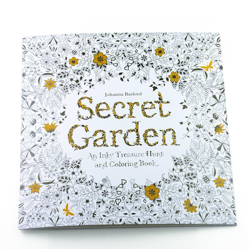 24 Pages English Edition Secret Garden Fantasy Dream Enchanted Forest Animal Kingdom Coloring Book Painting New Online With 1167 Piece