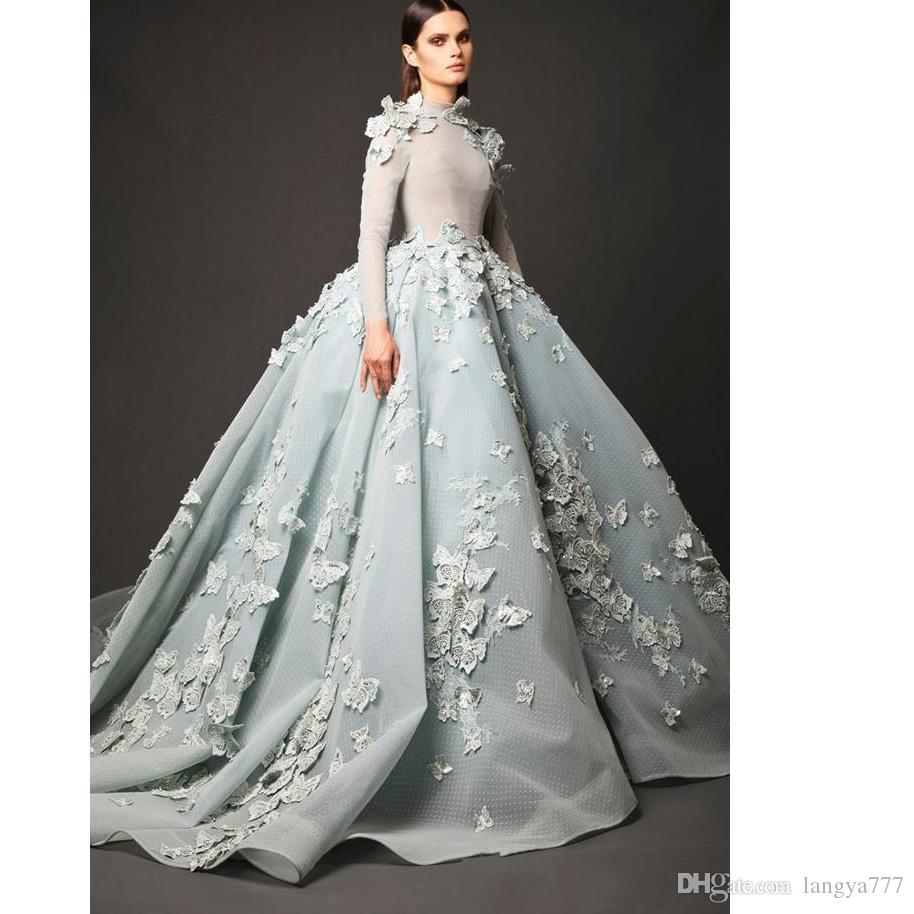 Elie saab ball gown wedding dresses 2017 long sleeves high neck elie saab ball gown wedding dresses 2017 long sleeves high neck bridal gown chapel train tulle lace appliques dresses bridal wear for women elie saab ball junglespirit Gallery