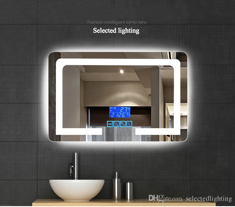 2017 High Definition Intelligent Wall Mounted Bathroom Mirror Frameless Defogging Bathroom ...