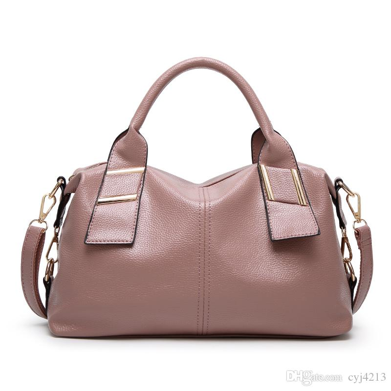 New Arrival High Quality Leather Handbags Women Casual Shoulder ...