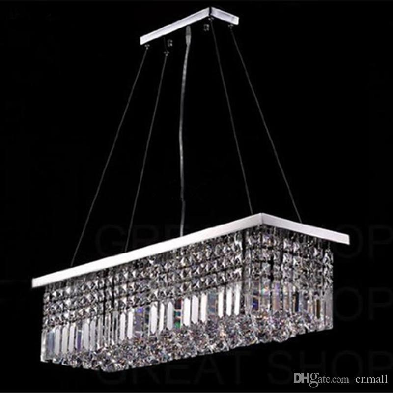 Length 100cm Modern Crystal Color Led Pendant Light