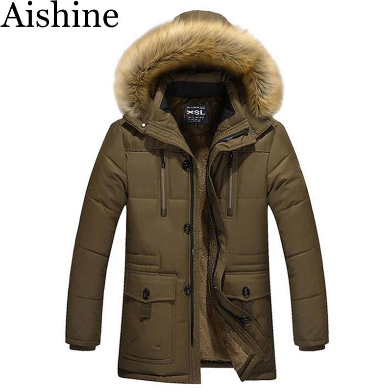 Wholesale- Aishine Men's Parka Jacket Mens Brand Thick Warm Duck ...