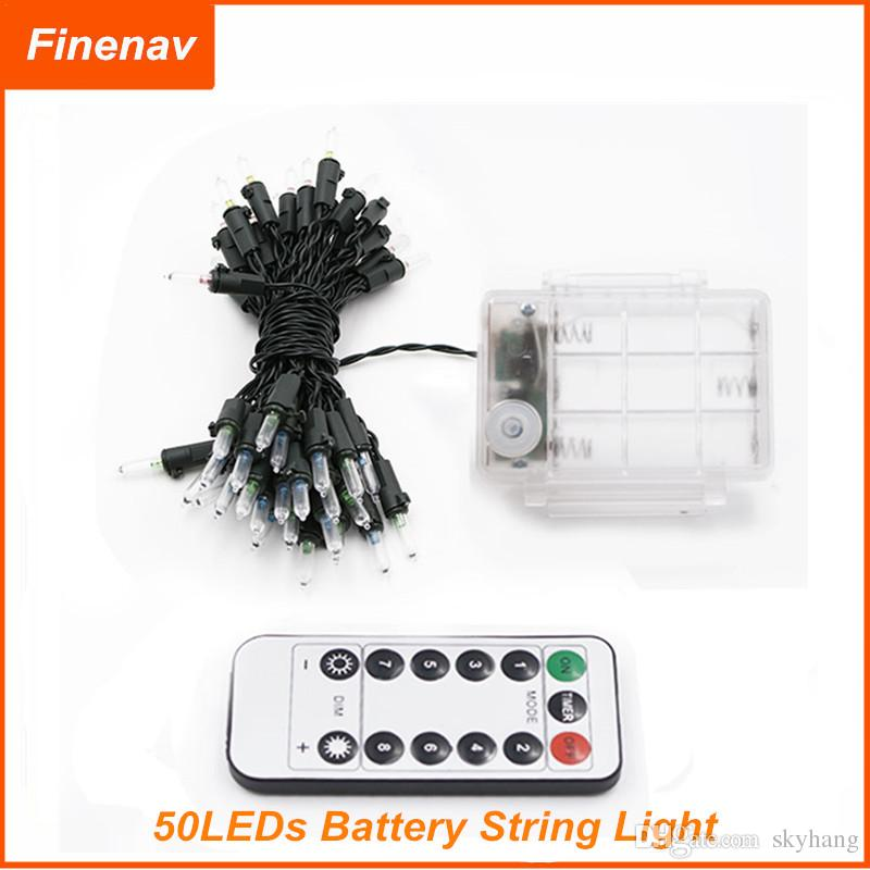 led string lights battery powered with remote control 7m. Black Bedroom Furniture Sets. Home Design Ideas