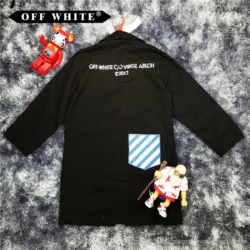 OFF WHITE WORK COAT WHITE & BLACK 2013 OPTIONS Trench Hip Hop ...