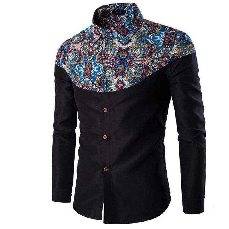 Online cheap wholesale men shirt luxury brand 2017 male for Discount mens dress shirts online