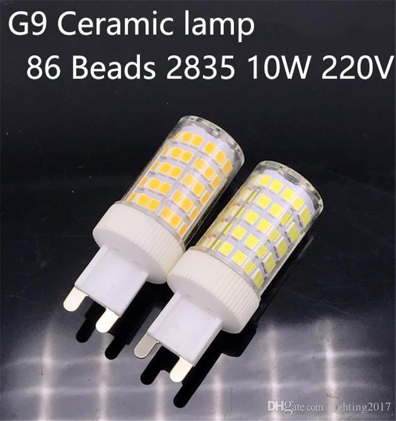 2017 new g9 led 2835 smd 10w 220v ceramic 86leds lamp ceramic crystal led bulb spotlight replace. Black Bedroom Furniture Sets. Home Design Ideas