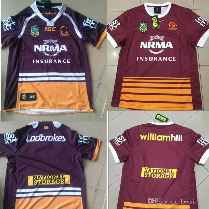NRL National Rugby Ligue Brisbane rouge New Jersey Impression thermique à haute