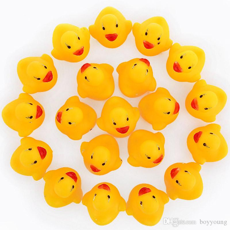 2018 baby bathtub toys mini yellow duck toys gift for kids fast delivery bath toy for children. Black Bedroom Furniture Sets. Home Design Ideas