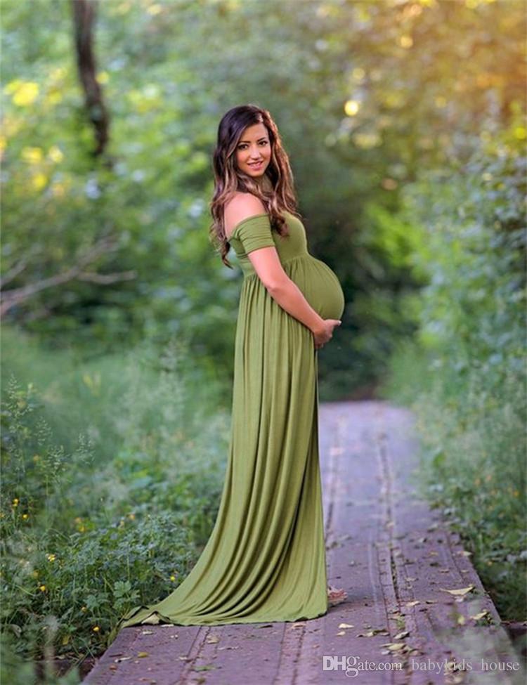Ivory maxi maternity dress