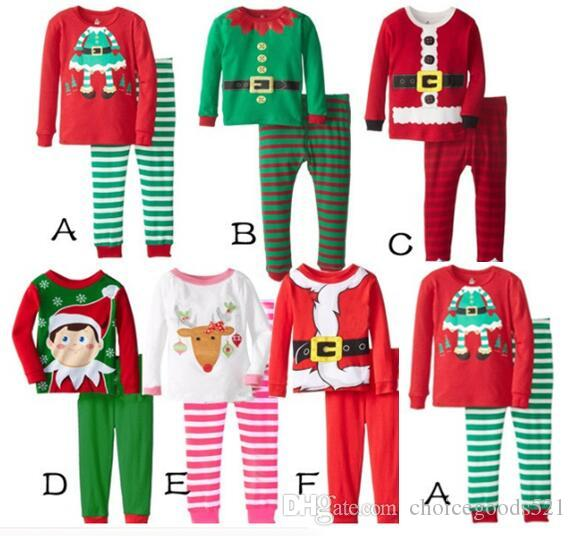 New Kids Christmas Sleepwear Children Clothing Boys Girls Cotton ...