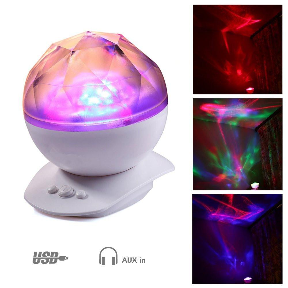 Aroma night lamps - Color Changing Led Night Light Lamp Realistic Aurora Star Borealis Projector Perfect For Children And Adults Sleep Aid Light Led Night Light Color