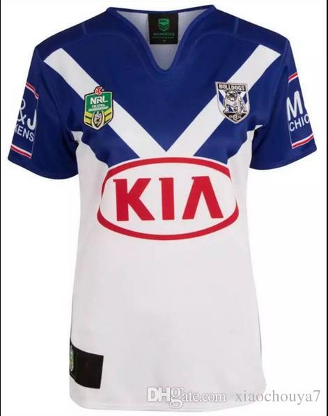 NRL Ligue Nationale de Rugby Jersey Bankstown Bulldogs 2017 Jersey d'impression