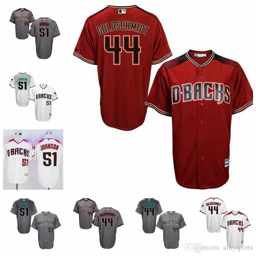 2017 Elite Arizona Diamondbacks maillot 51 Randy Johnson 44 Paul Goldschmidt Mai