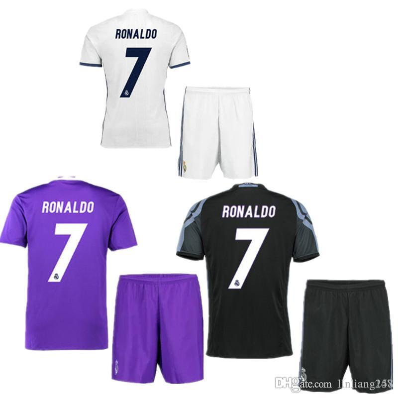 2016 2017 Real Madrid à domicile Away MANS kits adultes kits avec patch 16 17 Re