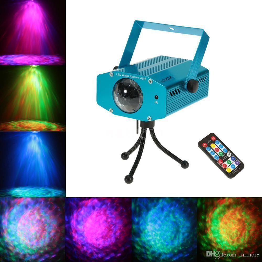 Lightme Projector Laser Extérieur 3W RGB LED Water Ripple Projecteur Club Stage