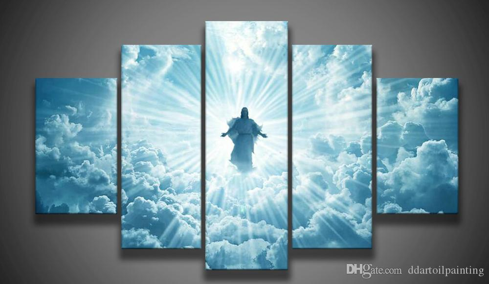 Wall Decor Jesus : Print canvas wall art jesus is coming painting