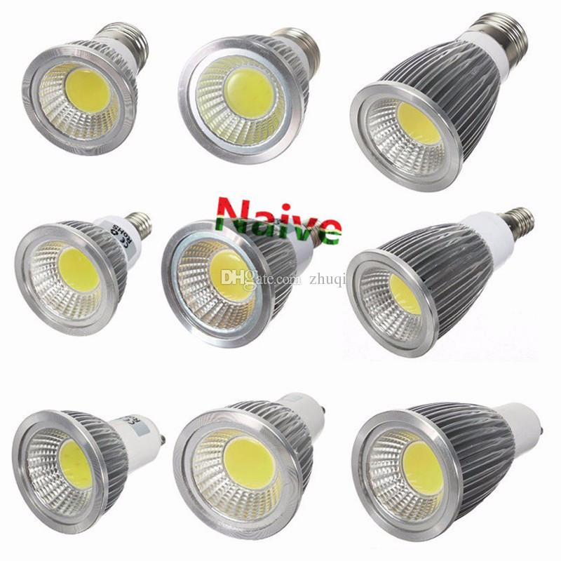 Nouveau High Power Lampada conduit COB MR16 E27 E14 GU5.3 GU10 LED 9w 12w 15w Di