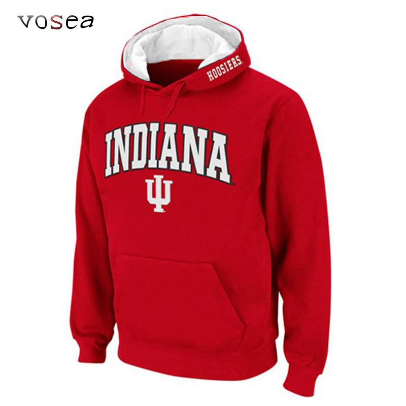 En gros-2016 New Fashion Classique Indiana University Hoodies Hommes Hooded Swea