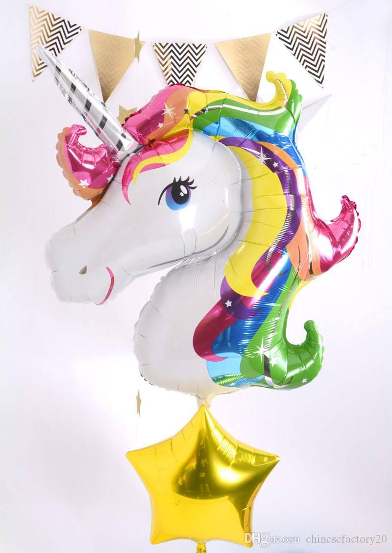 cute lovely animal unicorn foil balloon baby gift ball inflatable