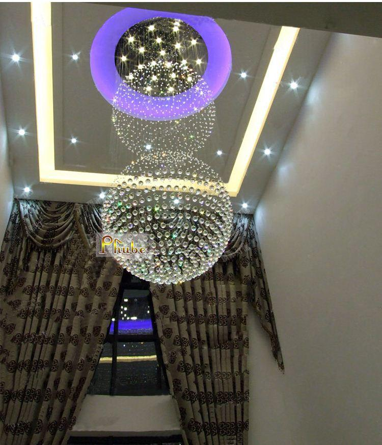 Super Sized Lage Modern Foyer Crystal Chandelier Light Used In – Used Crystal Chandelier